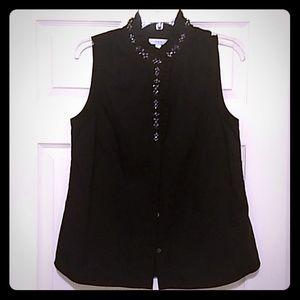 J. Crew jewel embellished blouse.